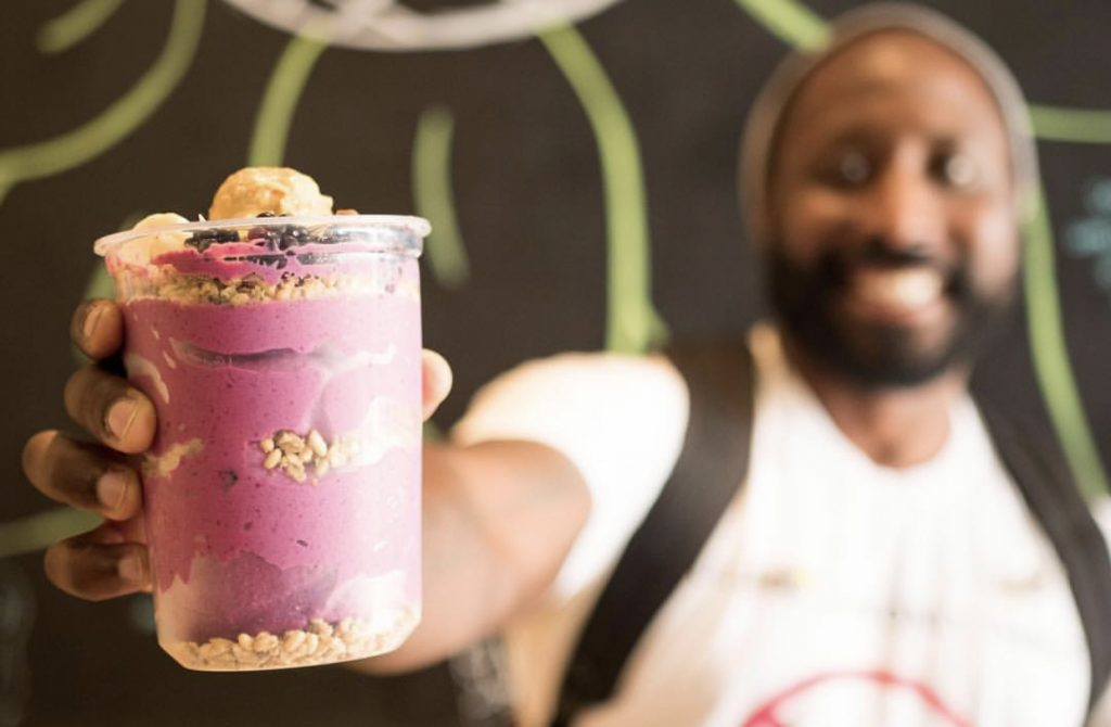 Csulb student with pitaya bowl
